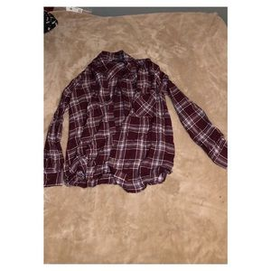 Forever 21 Lightweight Long Sleeve Flannel Top